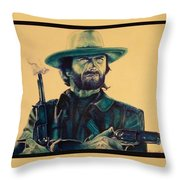 Josey Wales Outlaw. Smokin Gun Throw Pillow