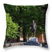 Joshua Lawrence Chamberlain Statue, Brunswick, Maine #0013 Throw Pillow