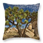 Joshua Tree And Blue Sky Throw Pillow