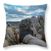 Joshua Tree Boulder Sky Throw Pillow