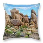 Joshua Tree Boulders Throw Pillow