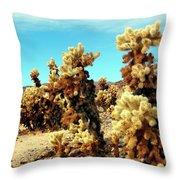 Joshua Tree Cholla Throw Pillow