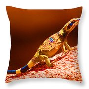 Joshua Tree Lizard Throw Pillow