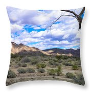Joshua Tree National Park Landscape Throw Pillow