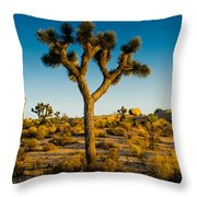 Joshua Tree Panoramic Throw Pillow