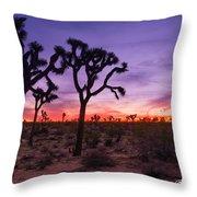 Joshua Tree Pastel Colors Throw Pillow