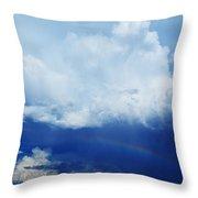 Joshua Tree Rainbow Throw Pillow
