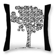Joshua Tree Zebra Stripes Throw Pillow