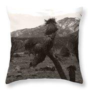 Joshua With Snow Capped Mountain Throw Pillow