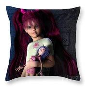 Josi Girl Throw Pillow