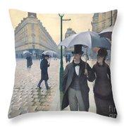 Jour De Pluie A Paris Throw Pillow