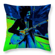 Journey #18 Enhanced In Cosmicolors And Pinched Throw Pillow