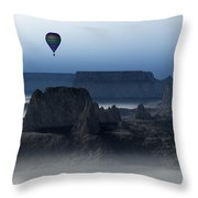 Journey Into The Wastelands Throw Pillow