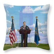 Journey Of A Governor Dave Heineman Throw Pillow