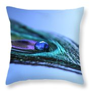 Journey Of Blue Throw Pillow