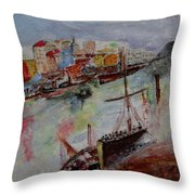 Journey On Waters Throw Pillow
