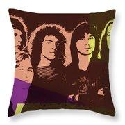 Journey Rock Band Pop Art Throw Pillow