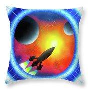 Journey To The Future  Throw Pillow
