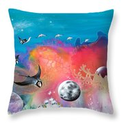 Journey To The Snow Coral Throw Pillow