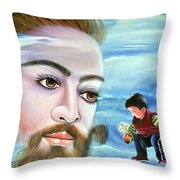 Journey With Jesus Throw Pillow