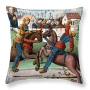 Jousting Knights, 1499 Throw Pillow