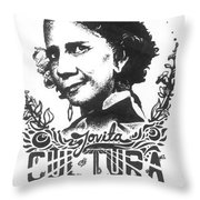 Jovita Cultura Es Poder Throw Pillow