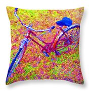 Joy, The Bike Ride Throw Pillow