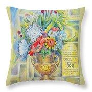 Joy Bouquet Throw Pillow