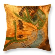 Joy Flowing - Tile Throw Pillow