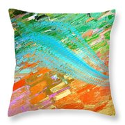 Joy In Abstract Throw Pillow