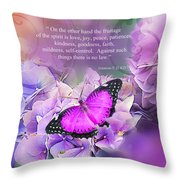 Joy In Royal Throw Pillow