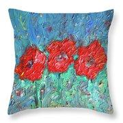 Joy Of Poppies Throw Pillow