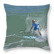 Joy Of Surfing - Four Throw Pillow