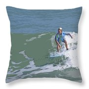 Joy Of Surfing - Three Throw Pillow