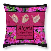 Joy Of The Lord Spanish Throw Pillow