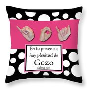 Joy Spanish - Bw Graphic Throw Pillow