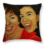 Joyce And Gina Throw Pillow