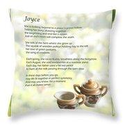 Joyce Poem Throw Pillow