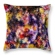Joyful Clown Throw Pillow