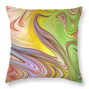 Joyful Flow Throw Pillow