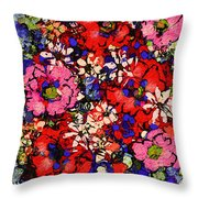 Joyful Flowers Throw Pillow