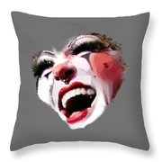 Joyful Klown Throw Pillow