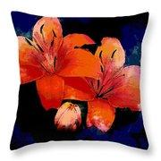 Joyful Lilies Throw Pillow