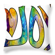Joyful Occasions Abstract Inspirational Art By Omaste Witkowski Throw Pillow