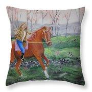 Joyful Ride Throw Pillow
