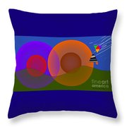 Joyful Shapes Throw Pillow