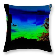 Joyin The Sunset Together Throw Pillow