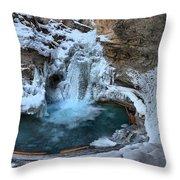 Johnston Canyon Winter Delight Throw Pillow