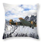 Ju52 - Alpine Passage Throw Pillow