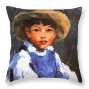 Juan Also Known As Jose No 2 Mexican Boy 1916 Throw Pillow